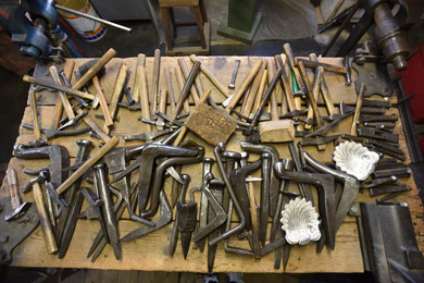 Tools used in the workshop